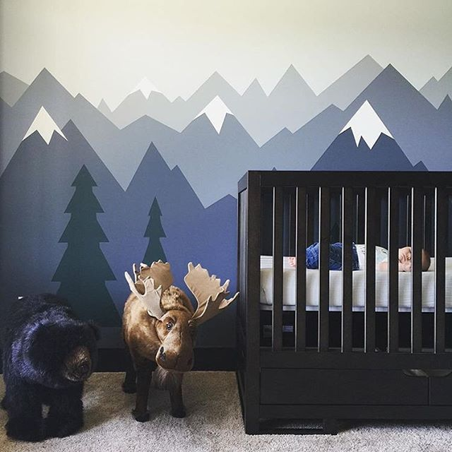 This tiny one is hibernating in his crib for the first time! Love this He Will Mov