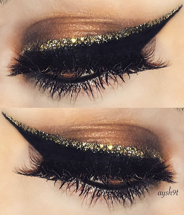 Glitter wing ✨ @certifeye glitter in champagne gold @annytude lashes in sturdy