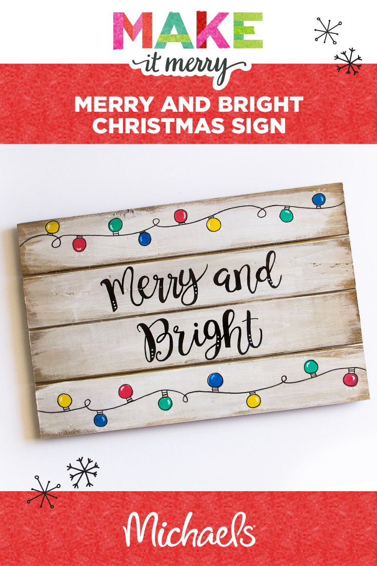 Anyone can make this quick & easy holiday sign project—a few supplies are all yo