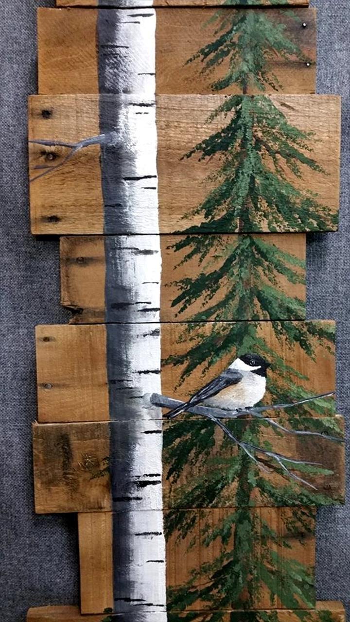 no-cost pallet natural wall art