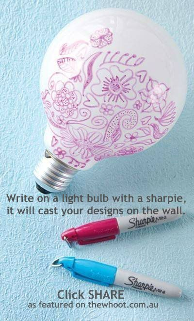 DIY Projects for Teens and Tweens and Teen Crafts Ideas – light bulb art! Cast you