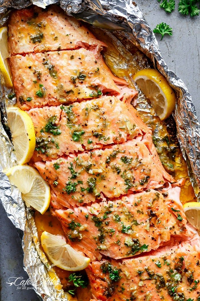 Honey Garlic Butter Salmon In Foil in under 20 minutes, then broiled (or grilled)