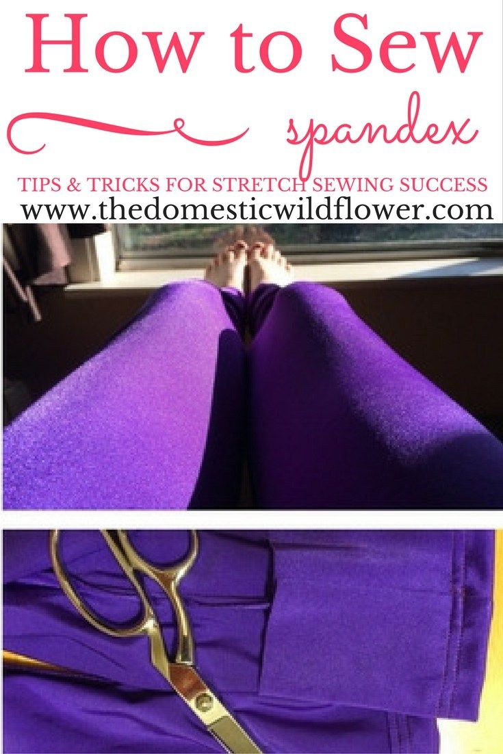 How to Sew Spandex | The Domestic Wildflower click to read this helpful tutorial f