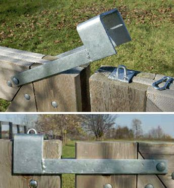 Throw Over Gate Loop – latch two gates that meet in the middle of an opening $37-
