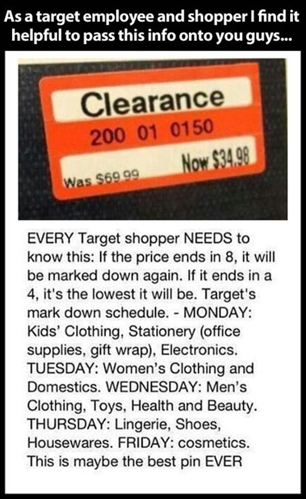 Not sure if this is true, but considering how much money I spend at Target, it&#39