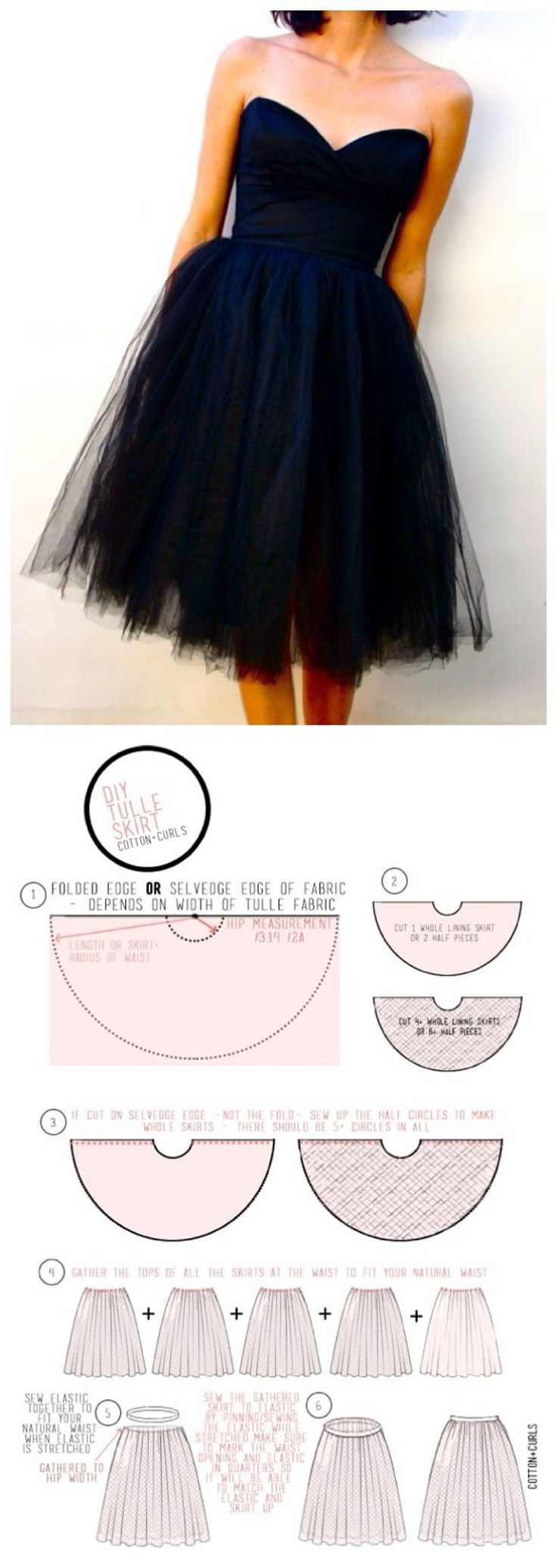 DIY tulle skirt – Gorgeous skirt sewing pattern for special occasions or just thos