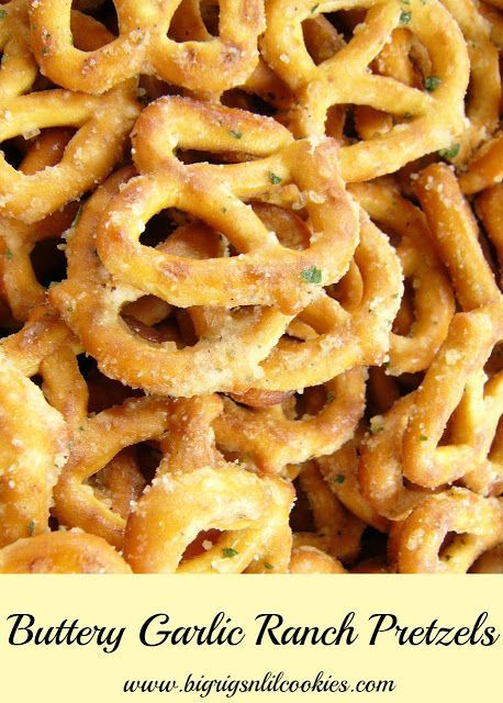 Our mouths are already watering with these homemade buttery garlic ranch pretzels.