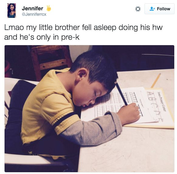 When this little brother was exhausted after a long day: | 21 Times Little Brother