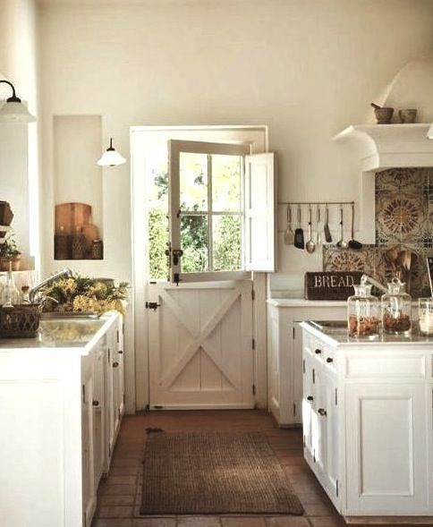 Fresh Farmhouse decor. White with time worn woods and collected pieces with loving