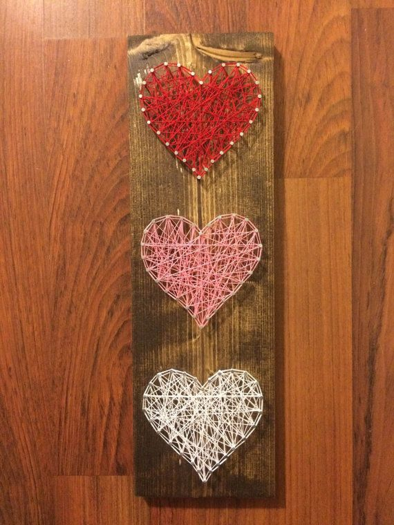 Heart String Art Valentines Day String Art by HarpSaw on Etsy