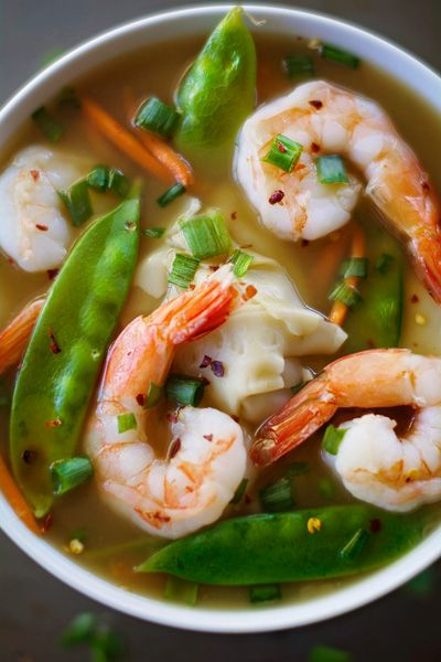 A comforting and delicious recipe for shrimp wonton soup thats not only easy, but healthy and filling with only 110 calories for a