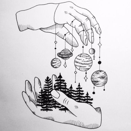 Image result for planets drawings tumblr
