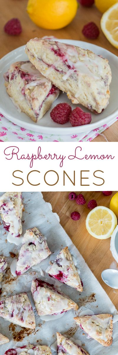 Simple and quick to prepare, these little Raspberry Lemon Scones are full of tart berry and tangy lemon flavor. This easy recipe