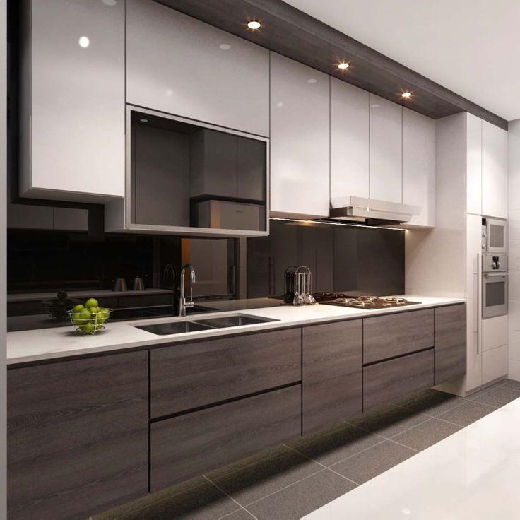singapore interior design kitchen modern classic kitchen partial open – Google Search