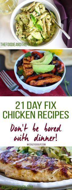 Chicken… again? Thats what I feel like sometimes, especially on the 21 Day Fix. I pulled together these delicious 21 Day Fix