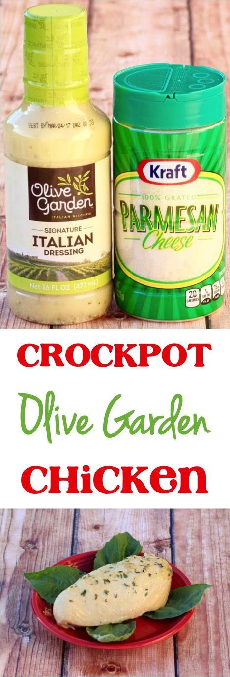 Crockpot Olive Garden Chicken Parmesan Recipe! Such an easy copycat recipe from your favorite Italian restaurant! |