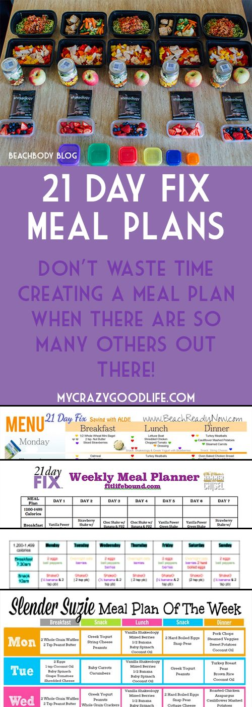You dont have to spend hours creating a meal plan for the 21 Day Fix when there are already so many out there!