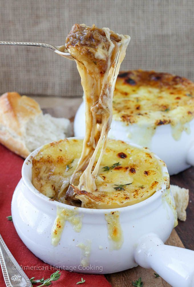 Homemade French Onion Soup – so incredibly flavorful and comforting, youll never want to order it in a restaurant ever again!!!