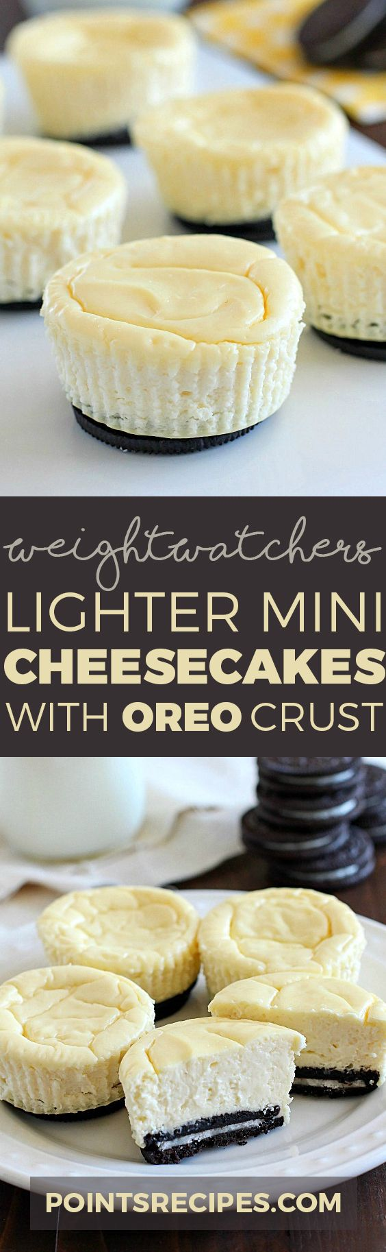 Lighter Mini Cheesecakes with Oreo Crust (Weight Watchers SmartPoints)
