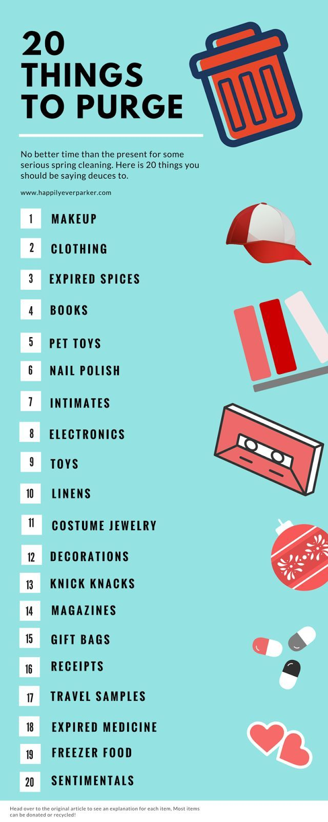 Happily Ever Parker: 20 Things to Purge, organize, organization, cleaning tips, sp