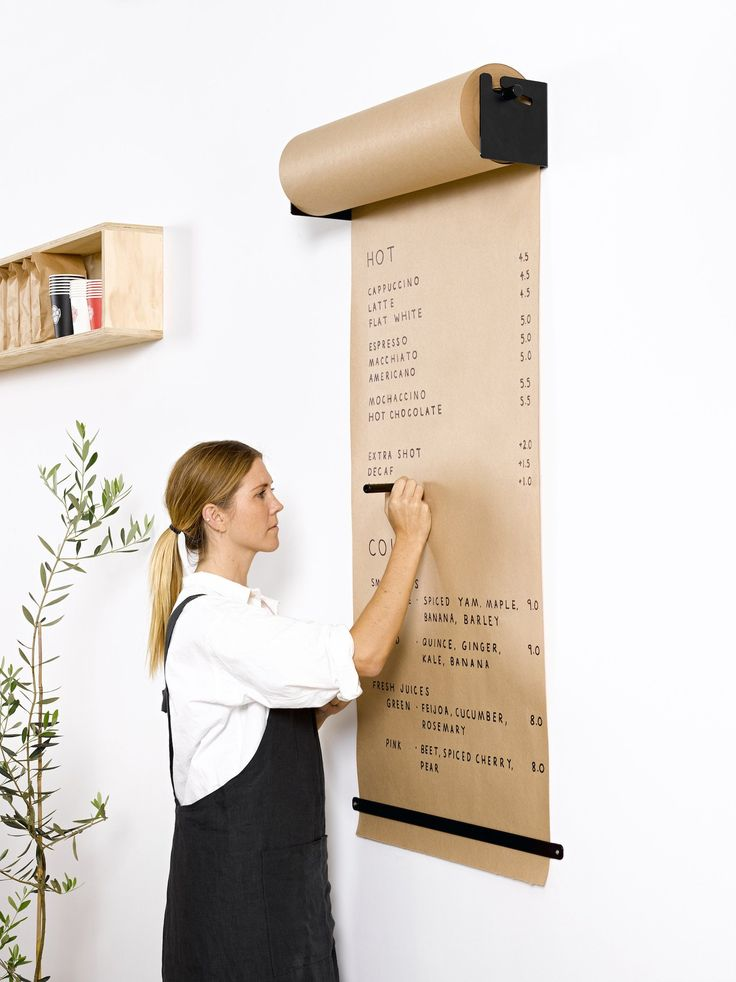 The Studio Roller is an innovative way to display information in your café, offic