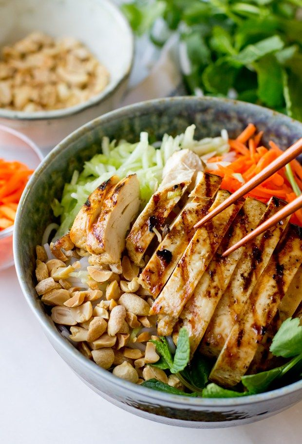 Vietnamese Chicken Vermicelli Salad – THE GOURMET GOURMAND