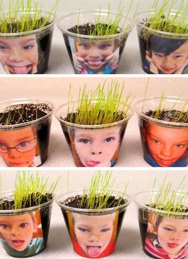 Growing Hair! Would be fun to do for Science, spring, or garden themes…Cute way