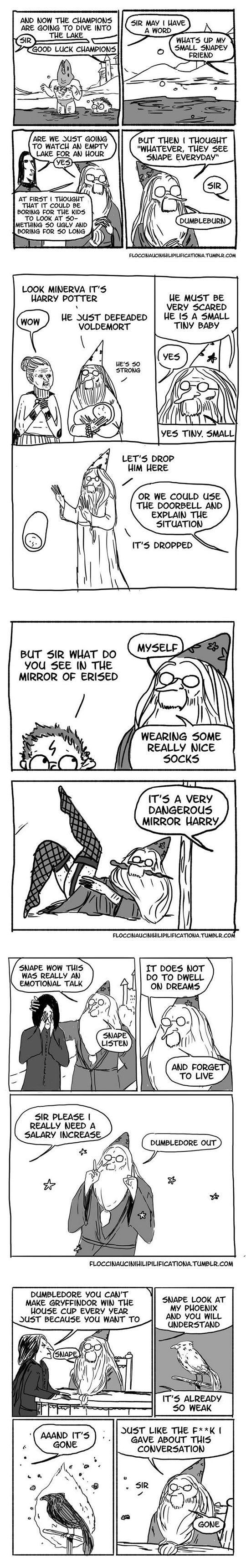 Dumbledore Burns