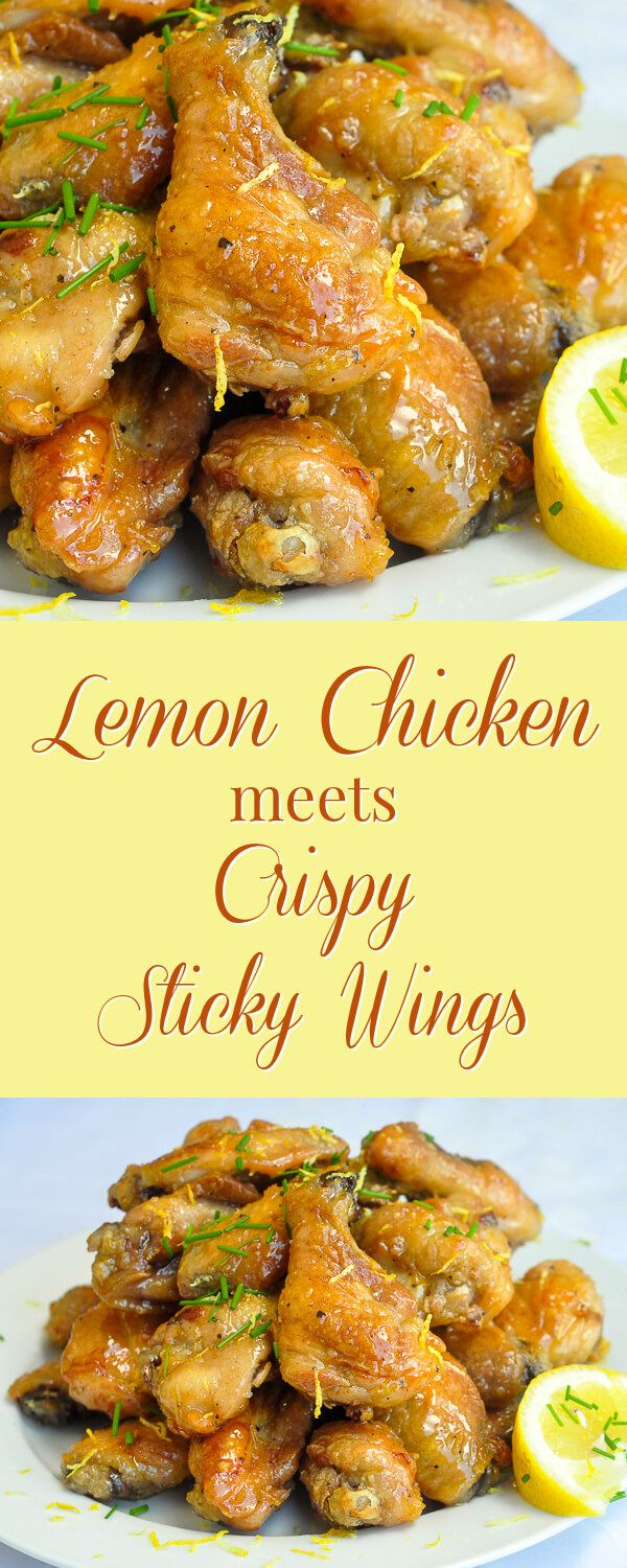 Baked Honey Lemon Glazed Wings – everyone loves crispy sticky wings and everyone loves lemon chicken. Why not combine them both in