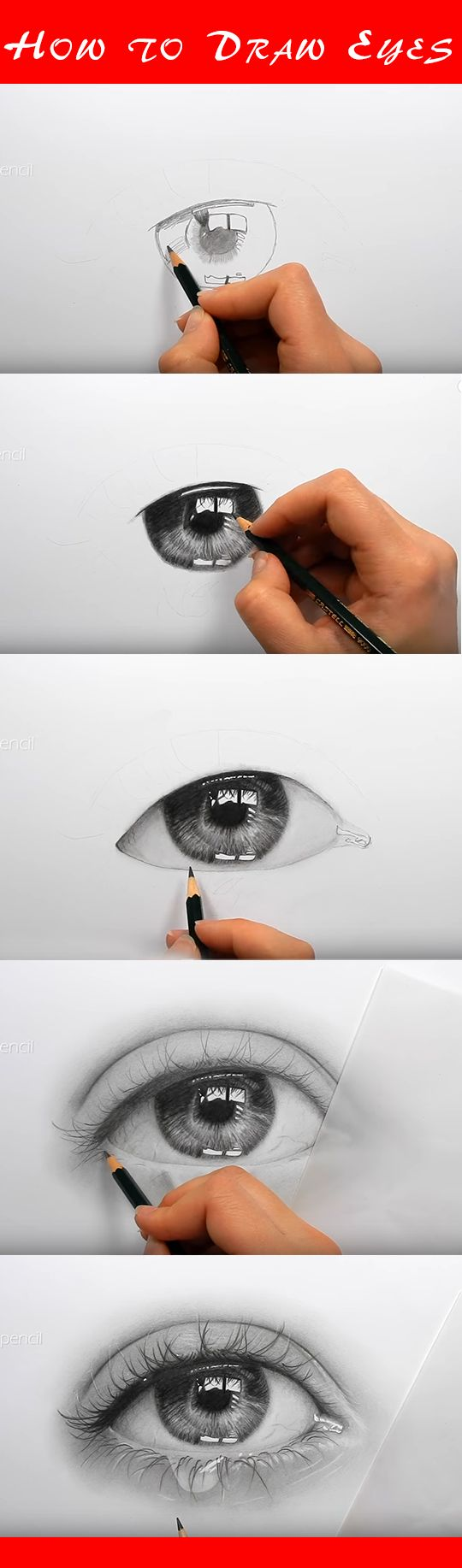 With the room in mind in the reflection. Draw realistic eyes with this step-by-ste