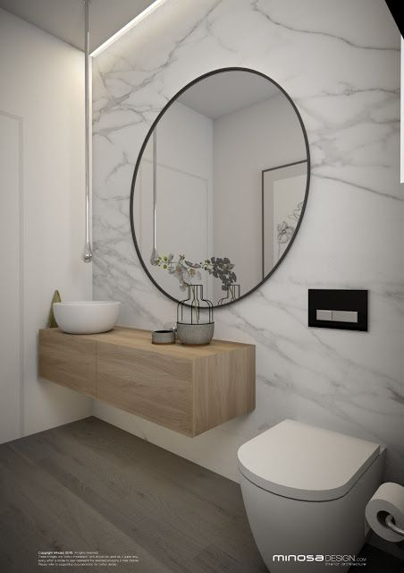 Minosa Design: Powder Room – Or maybe idea for den bath / office bath large…