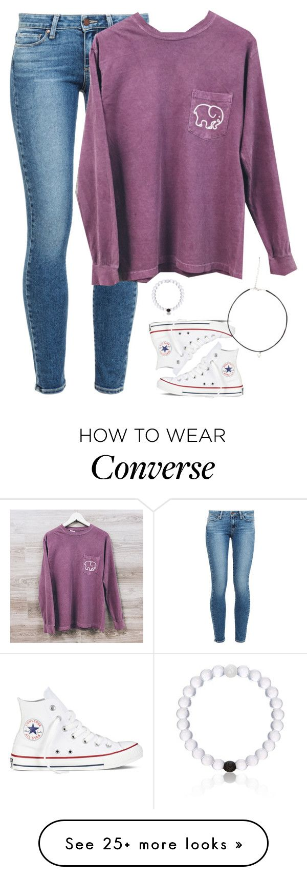 """Want this shirt!!~ hows the new setup?"" by meljordrum on Polyvore featuring Converse, Paige Denim and Everest"