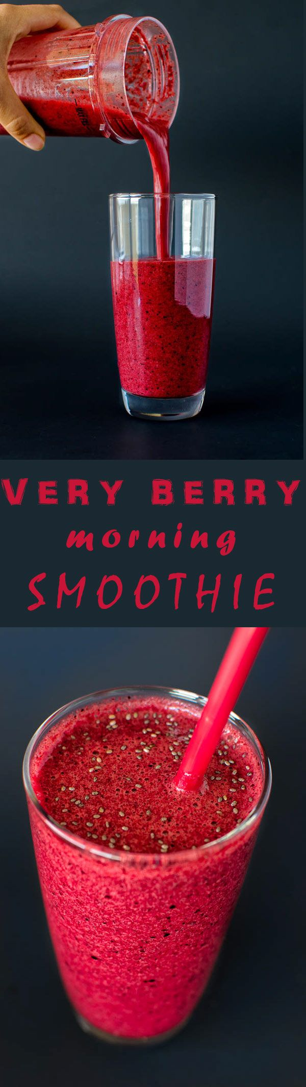Perfect way to start your day! Banana, apple, cherries and black currants blended to perfection with orange juice. Yum! (pinned