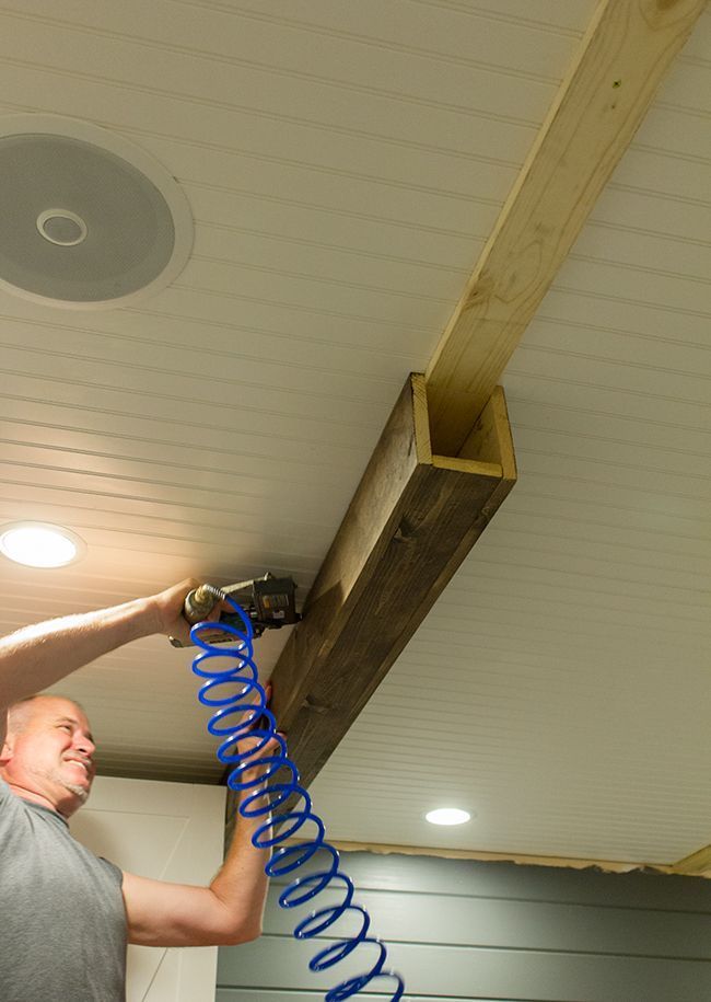 How To Build Faux Beams – excellent tutorial shows how to build these beams using stock lumber.