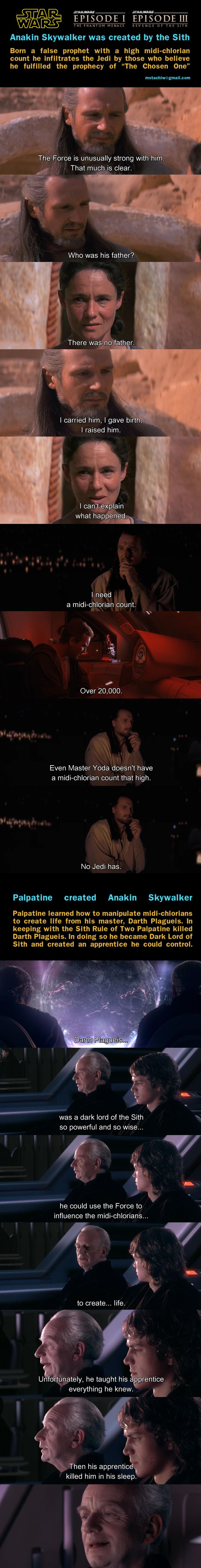 If the prequels were made with this theory in mind, we would have this epic reveal moment, that could rival the one at the end of