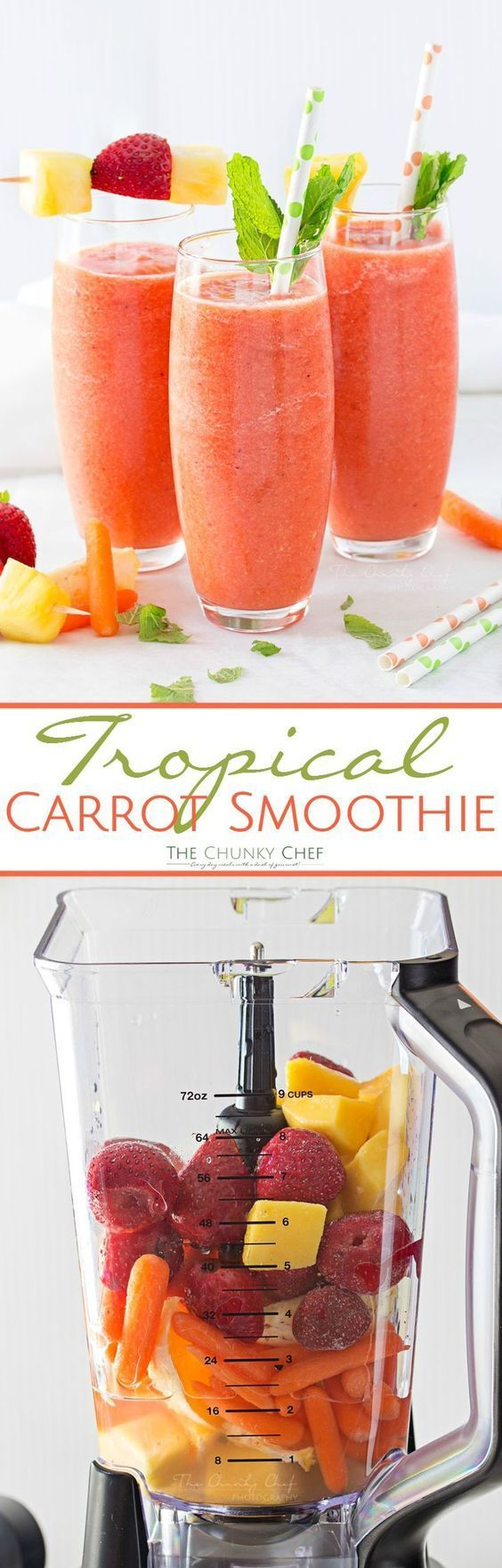 Tropical Carrot Smoothie ~ This simple-to-make carrot smoothie is bursting with tropical flavors and is so full of nutrients…