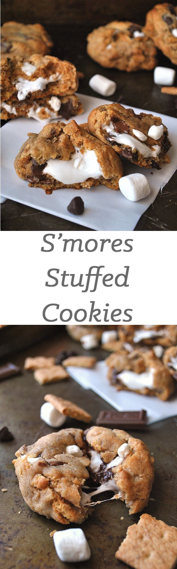 These smores stuffed cookies will be the best thing you do all day.