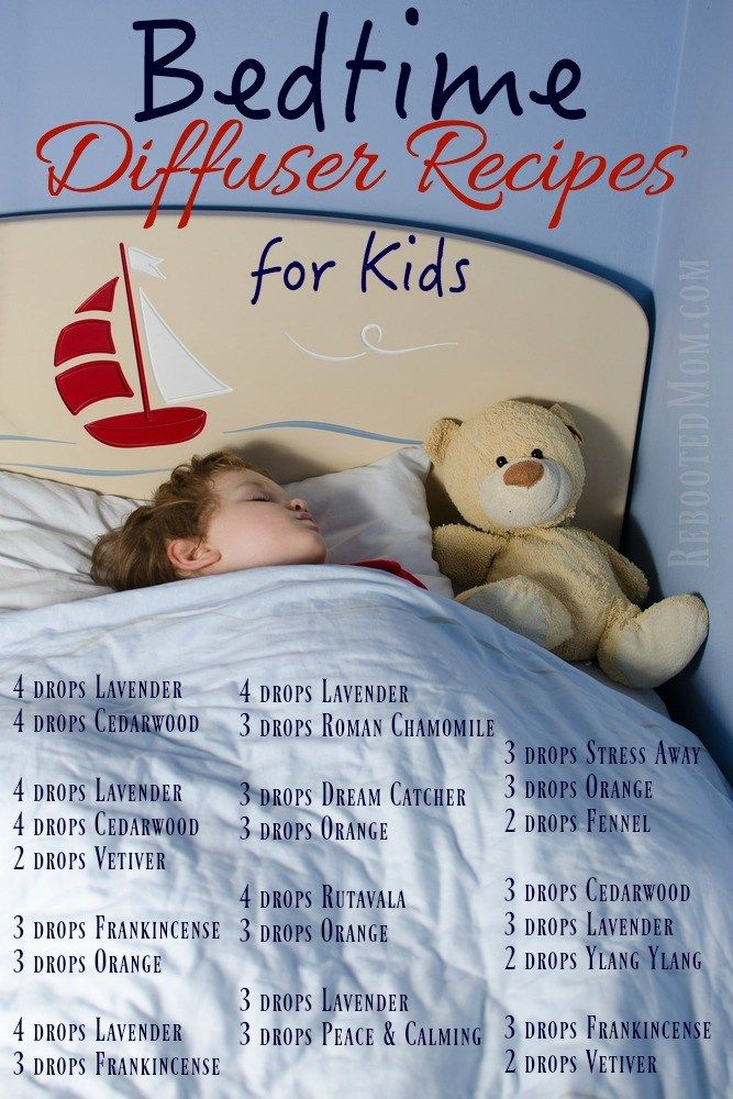Do you have kids? These Bedtime Diffuser Recipes will help them go to sleep AND stay sleeping!
