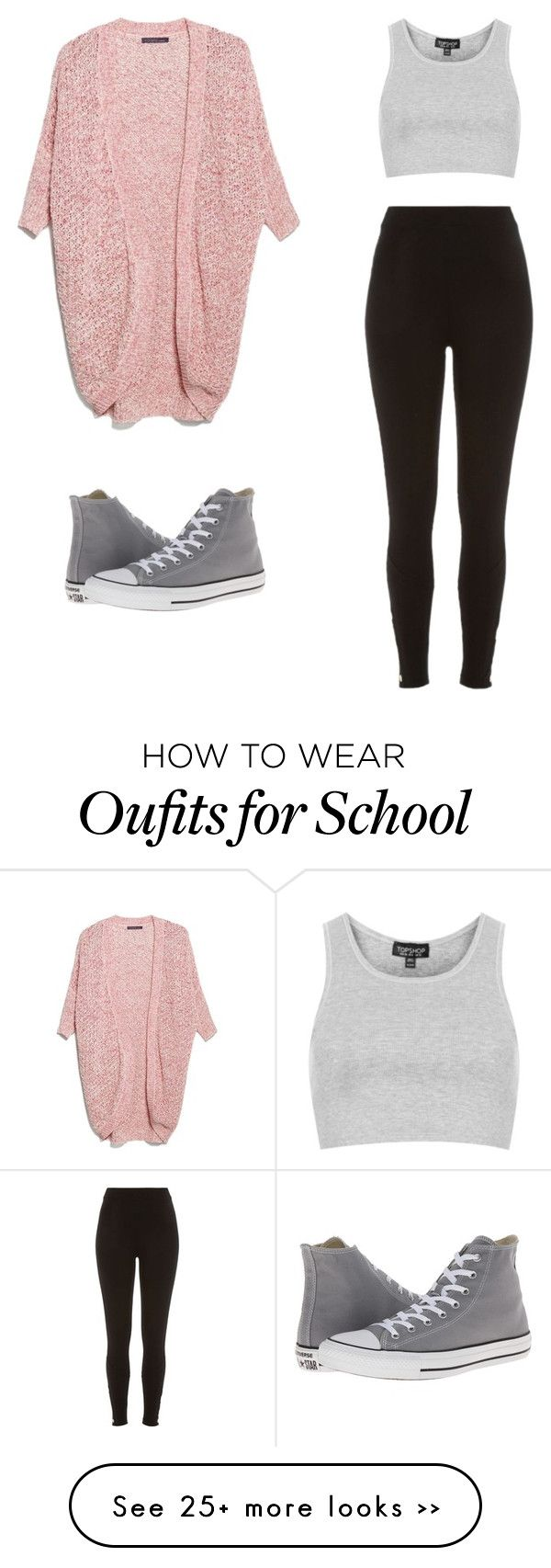 """school"" by annikalabonte on Polyvore featuring MANGO, Topshop, River Island and Converse"
