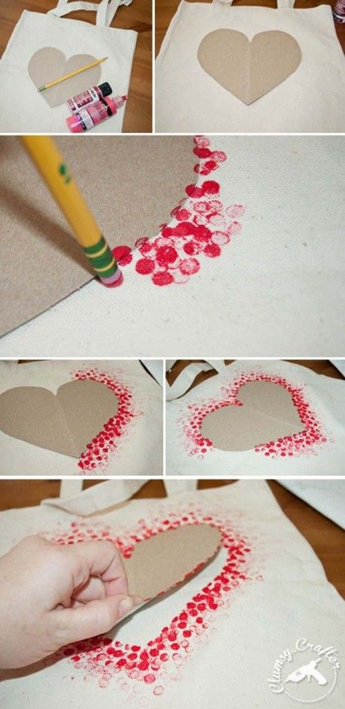 www.huffingtonpos… – make a heart outline with q-tip painting technique