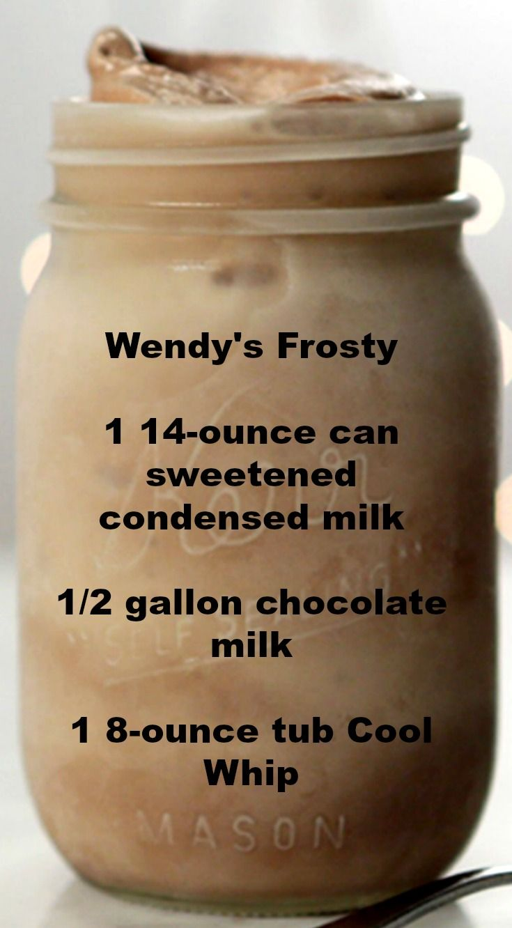 Wendys Frosty ~ An easy and delicious 3-Ingredient Homemade Take on Wendys Frosty