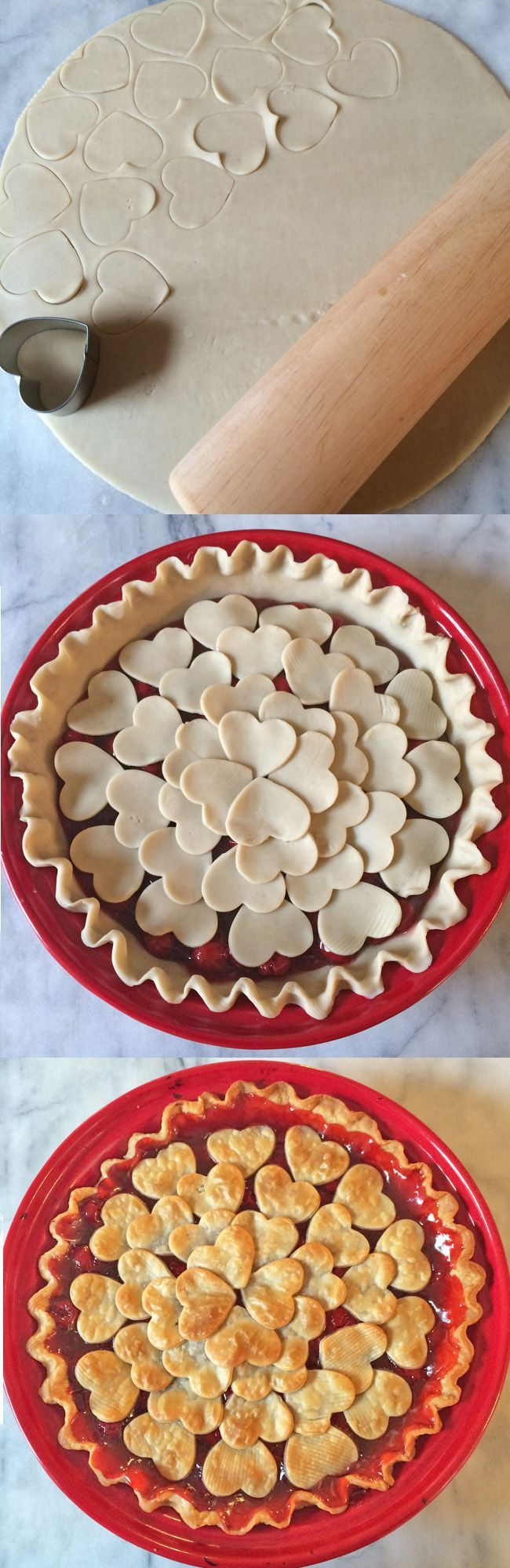 Heart pie! Click through for 35 amazing, over-the-top Valentines Day ideas, including Valentines crafts, Valentines recipes, and