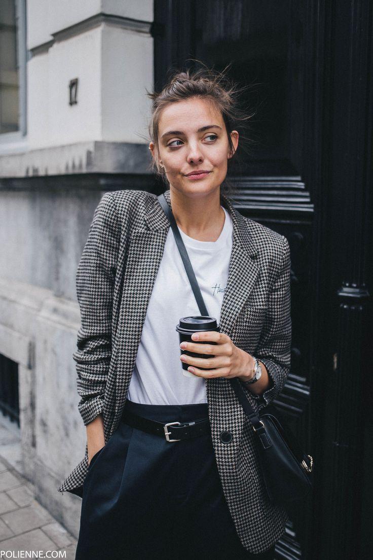 A classic blazer and white tee
