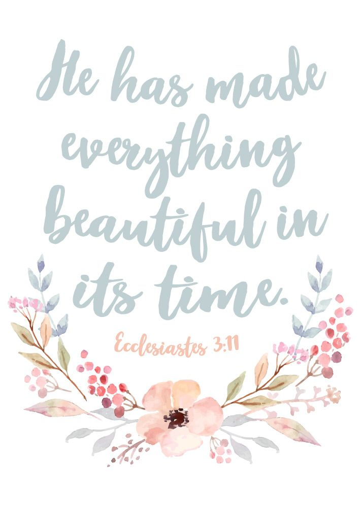 He has made everything beautiful in its time Ecclesiastes 3:11  The seasons of life include both good and bad times. We go through