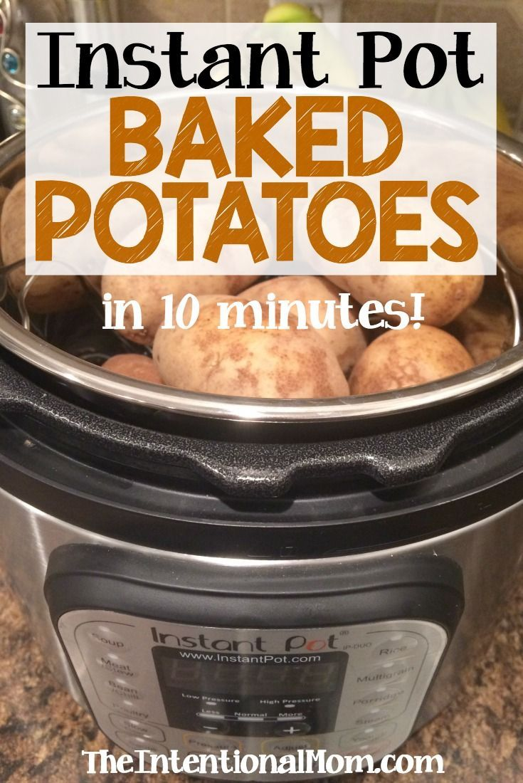 The Instant Pot is the answer for frugal, money saving moms who need fast home cooked meals. These baked potatoes are moist,