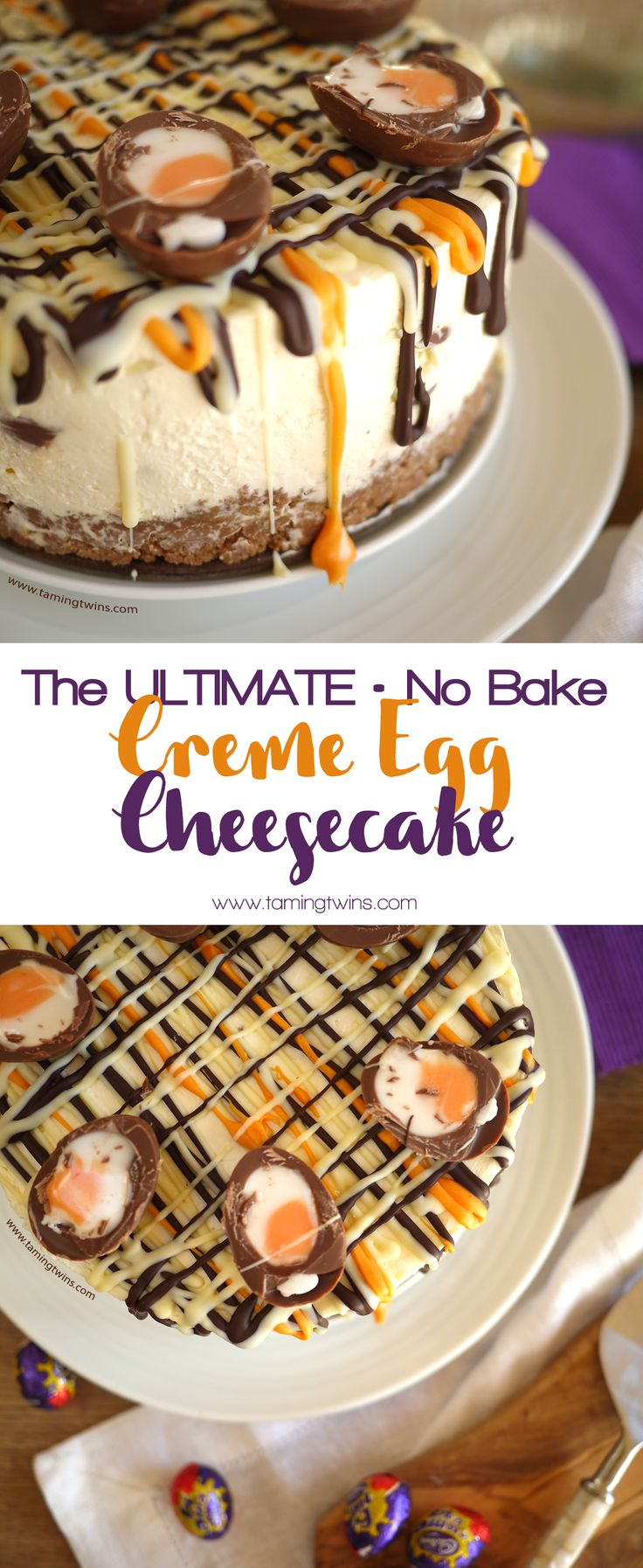 This Cadburys Creme Egg Cheesecake Recipe (No Bake!) has been viewed over a million times. The ultimate Easter chocolate make,