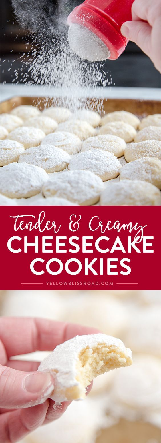 Cheesecake Cookies – A creamy, tender and delicious cookie thats a not too sweet but totally addictive dessert!