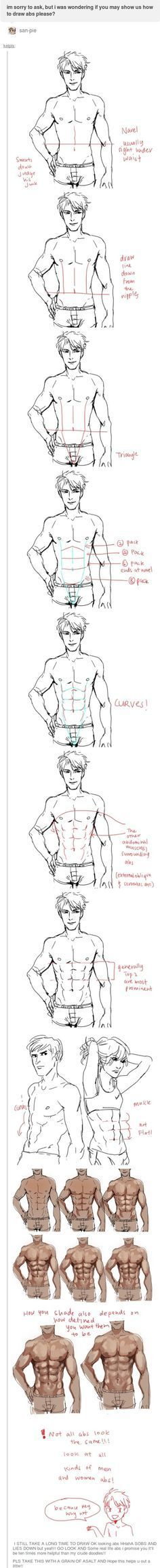 how to draw abs. kelpls.tumblr.com… I have needed this for so looooong