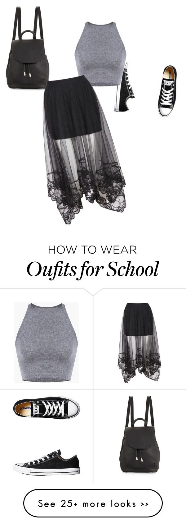 """School"" by lexabloom on Polyvore featuring Converse and rag & bone"