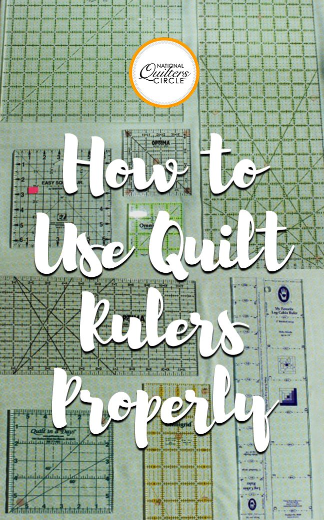 Quilting rulers come in all different sizes and shapes. Heather Thomas will teach you how to use them properly by explaining what